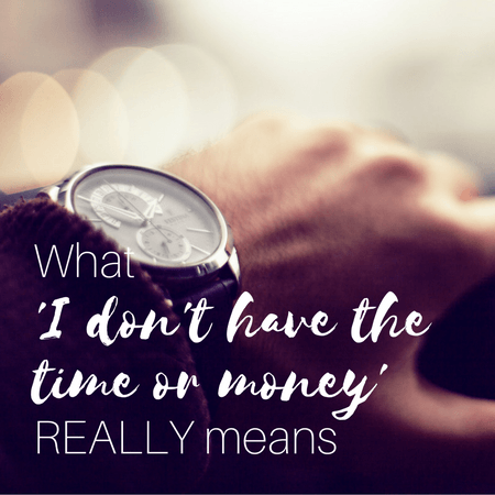 time, money and priorities